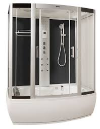 waters lww3 white steam shower cabin and whirlpool bath 1700mm x 900mm
