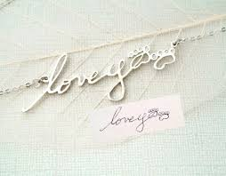 custom handwriting necklace handwriting necklace all collections of necklace