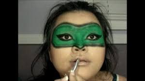 halloween green lantern makeup mask youtube