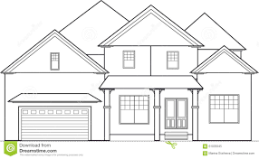 two story house outline clipart clipground