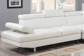 White Leather Sectional Sofa Sectional Sofa In White Bonded Leather