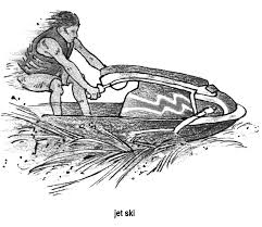 speed boat coloring pages pinterest boating boy on the jet ski