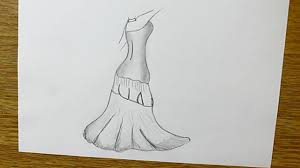 how to draw a dress step by step for beginners youtube