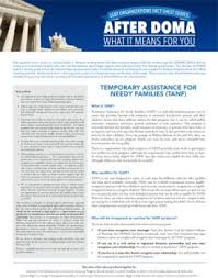 after doma temporary assistance for needy families tanf