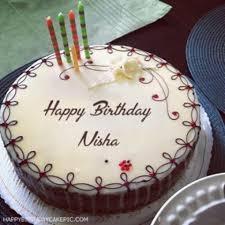 amazing birthday cakes amazing birthday cake pic with name nisha birthday cake for nisha