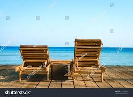 Two Beach Chairs Two Beach Chairs On Wooden Floor Stock Photo 118368004 Shutterstock