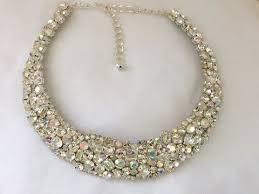 crystal collar statement necklace images Swarovski crystal mosaic bridal collar statement necklace the jpg