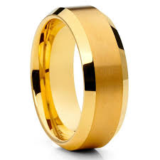 tungsten rings gold images Yellow gold tungsten wedding band yellow gold tungsten rings jpg
