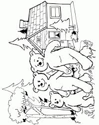 goldilocks and the three bears coloring pages pertaining to