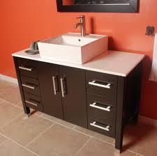 bathroom endearing dark brown wooden single bathroom vanity