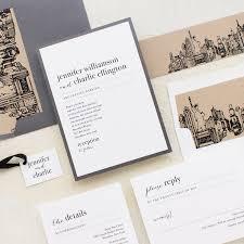 city skyline wedding invitations beacon lane