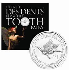 Tooth Fairy Gift 25c 2011 Gift Card Tooth Fairy Royal Canadian Mint Coins