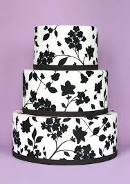 black and white wedding cakes chic and modern black and white wedding cakes