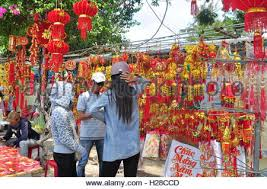 new year lanterns for sale paper lanterns for sale in chinatown singapore stock photo