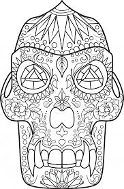 sugar skull animal coloring pages getcoloringpages