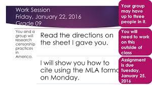 mla citation heart of darkness raider rev tuesday january 19 2016 grade 09 using a book create