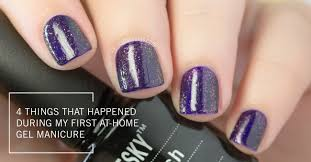 4 things that happened during my first at home gel manicure the