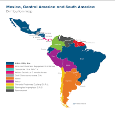 Central And South America Map by Americas Distribution Altro