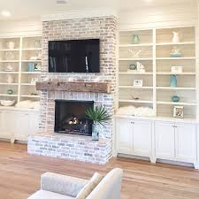 Built In Bookshelves Fireplace by Top 25 Best Exposed Brick Fireplaces Ideas On Pinterest Brick