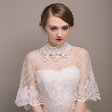 cape mariage étole mariage cape mariée en voile blanche décorée de