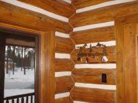 log home interior walls home air leakage and thermal imaging