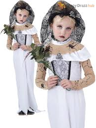 mummy costume for toddlers girls corpse bride costume for halloween zombie living dead fancy