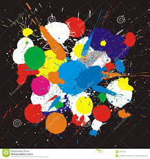 color background of paint splashes stock vector image 66558571