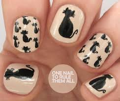 one nail to rule them all tutorial thursday halloween black cat