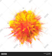 Orange Paint by Color Powder Explosion Background Yellow With Red Orange Dust