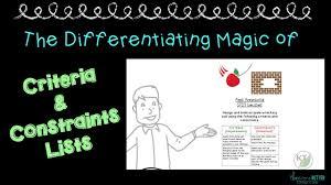 design criteria questions stem challenges the differentiating magic of criteria