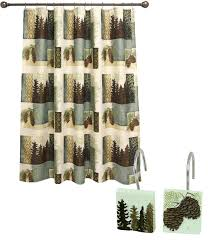 Winter Scene Shower Curtain by Amazon Com Bacova Guild Westlake Fabric Shower Curtain Home