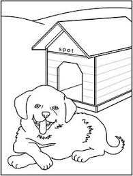 dog house coloring pages boykin spaniel puppy coloring page free puppies coloring pages