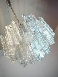Teal Glass Chandelier Large J T Kalmar Murano Ice Glass Chandelier Ceiling Lamp