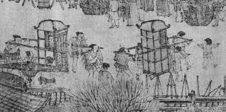 Sedan Chairs Along The River During The Qingming Festival 清明上河圖 Part 1