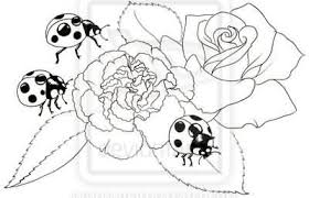 black and white flower ladybug tattoo design tattooshunter com