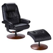 Brown Leather Chair With Ottoman Bonded Leather Recliner U0026 Ottoman Aiden Lane Target