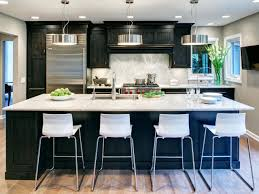 modern wood kitchen cabinets black granite glossy counter top