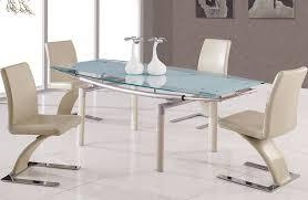 Modern Furniture Chicago Glass Dining Table With Extensions - Glass dining room table with extension