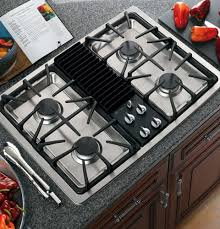Viking Cooktops Kitchen Top Gas Cooktop With Downdraft Ventilation System 30 Inch