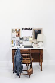 before and after dining table to desk with a wall organizer u2014 a
