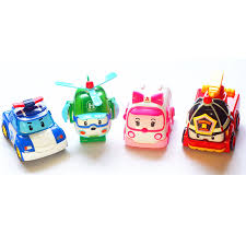 wholesale 4pcs robocar poli toy korea robot car transformation
