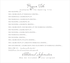 Sample Of Wedding Programs Ceremony Wedding Program Templates U2013 15 Free Word Pdf Psd Documents