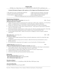 Sample Engineering Resumes by Sample Mechanical Engineering Resume Resume For Your Job Application