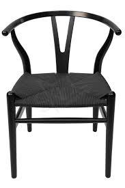 replica hans wegner wishbone chair black frame black rattan