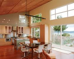 Lighting For Cathedral Ceiling In The Kitchen by Cathedral Ceiling Kitchen Lighting Ideas