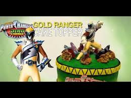 power rangers cake toppers power rangers dino charge gold ranger cake topper how to make