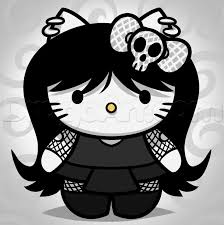 12 emo gothic kitty images draw