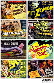 classic halloween monsters retro horror digital printable collage sheet vintage horror