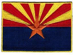 Flag Badges Embroidered Amazon Com Arizona State Flag Embroidered Patch Iron On Az Emblem