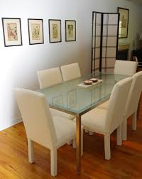 Dining Table Wood And Glass Dining Table With Frosted Glass Top Silver Metal Finish Coaster